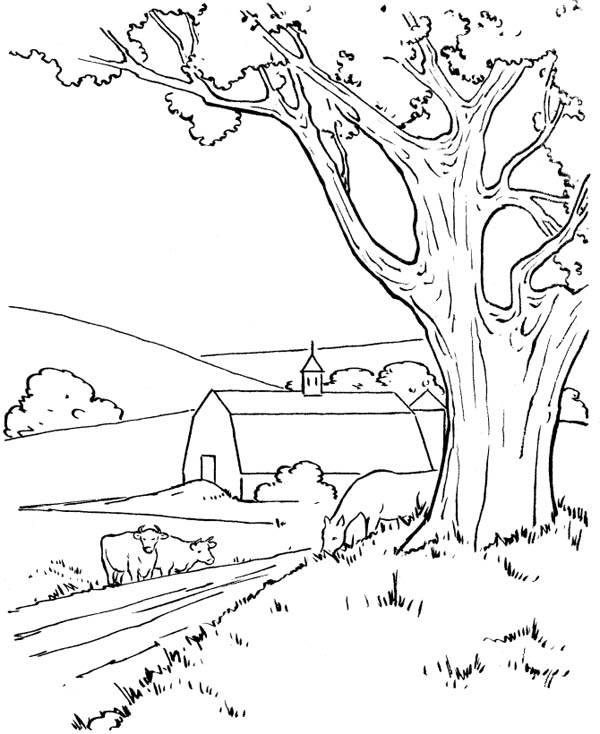 village colouring pages village in the mountains coloring page free printable colouring pages village