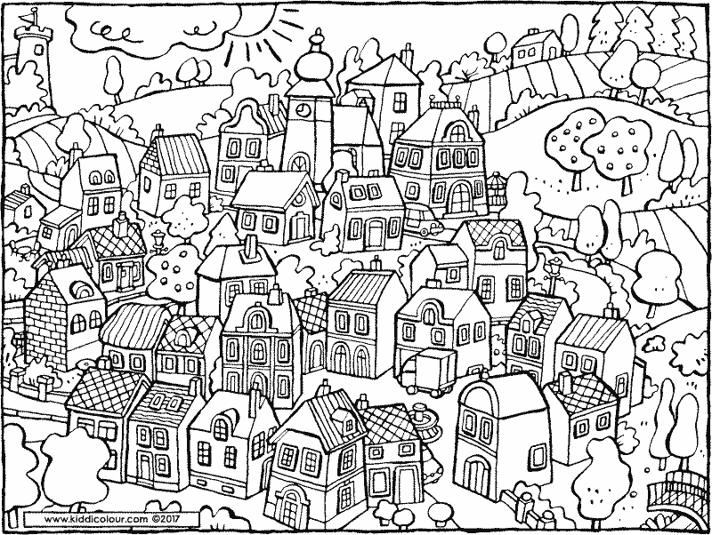 village colouring pages village scene coloring page free printable coloring pages pages village colouring