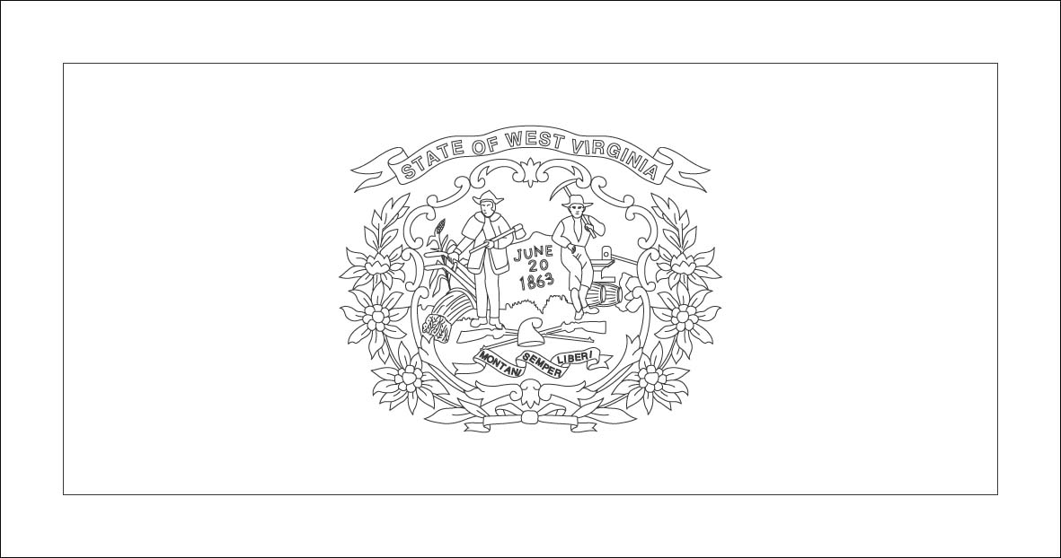 virginia flag coloring page state flag of west virginia coloring page color luna flag coloring page virginia