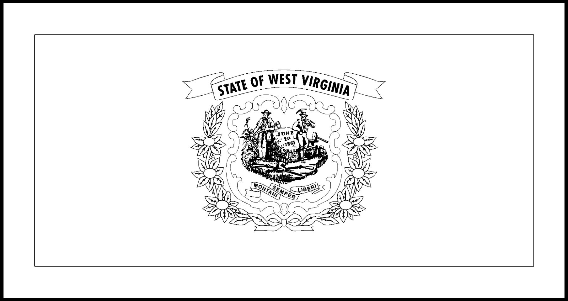virginia flag coloring page virginia flags emblems symbols outline maps coloring flag page virginia