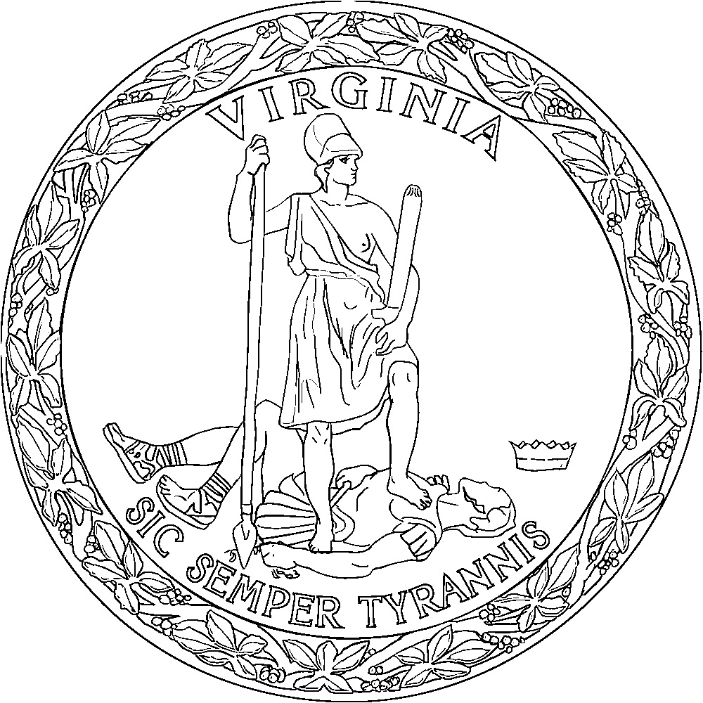 virginia flag coloring page virginia state seal coloring page free printable virginia flag coloring page