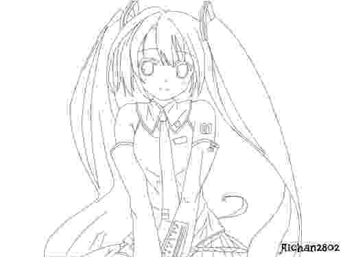 vocaloid coloring pages vocaloid hatsune miku lineart by aichan2802 on deviantart vocaloid pages coloring