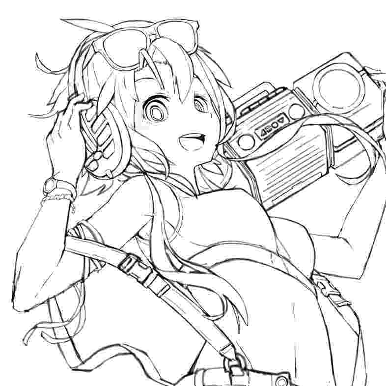 vocaloid coloring pages vocaloid lineart by azurahime on deviantart pages vocaloid coloring