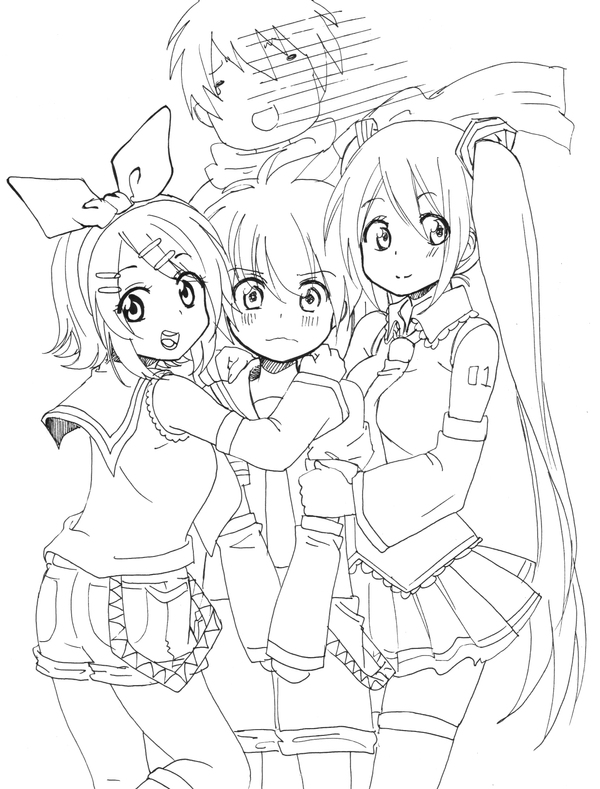vocaloid coloring pages vocaloid lineart by claire aegis faust on deviantart vocaloid coloring pages