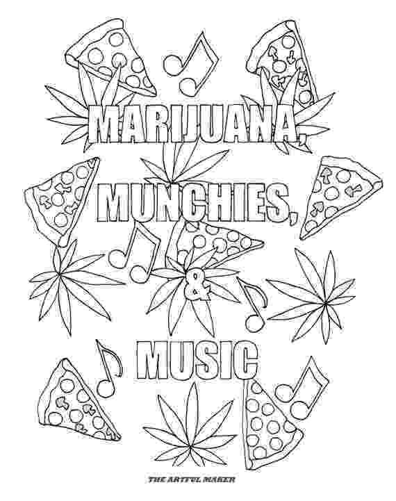 weed coloring sheets marijuana munchies music adult coloring pages by the weed sheets coloring