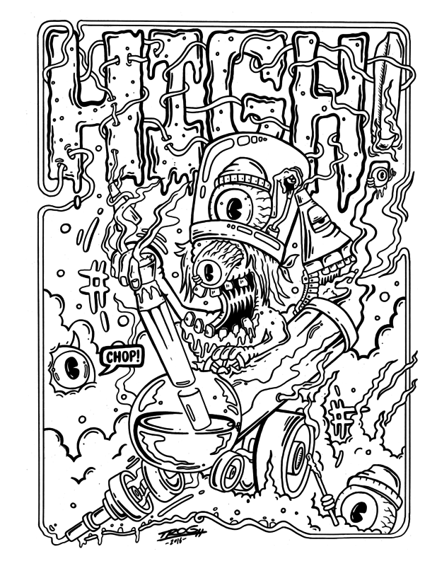 weed coloring sheets meet the artist behind the trippiest weed coloring book sheets weed coloring