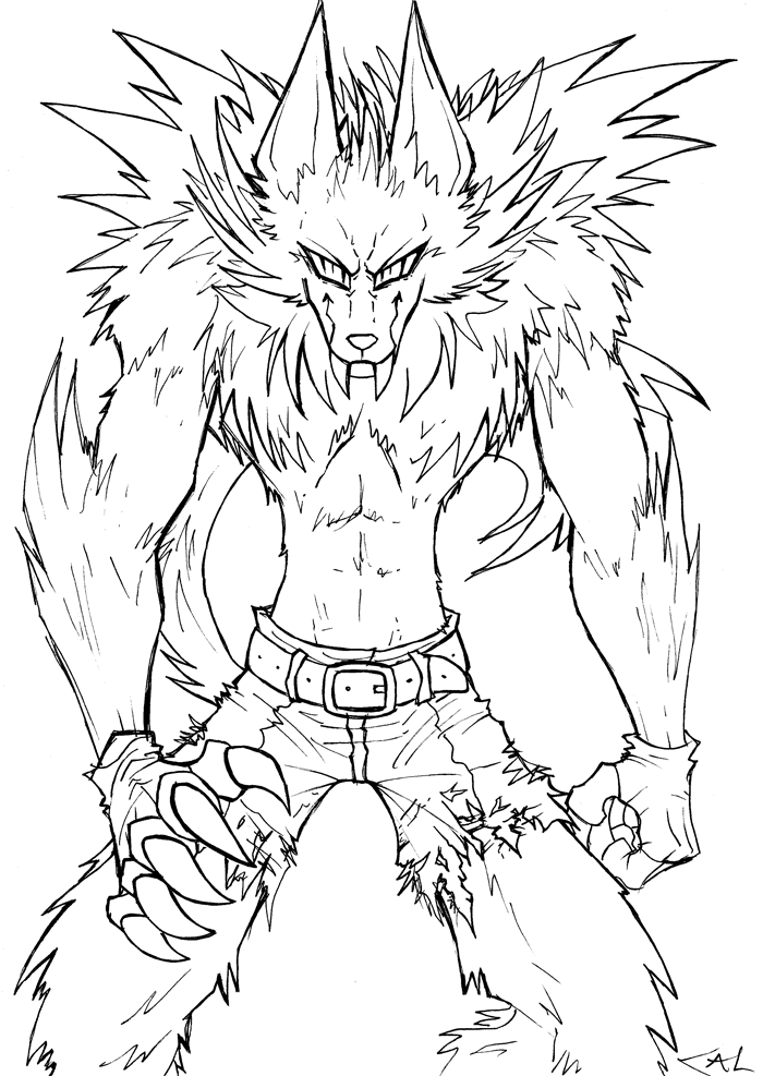 werewolf coloring pages goosebump the werewolf coloring page free printable coloring werewolf pages