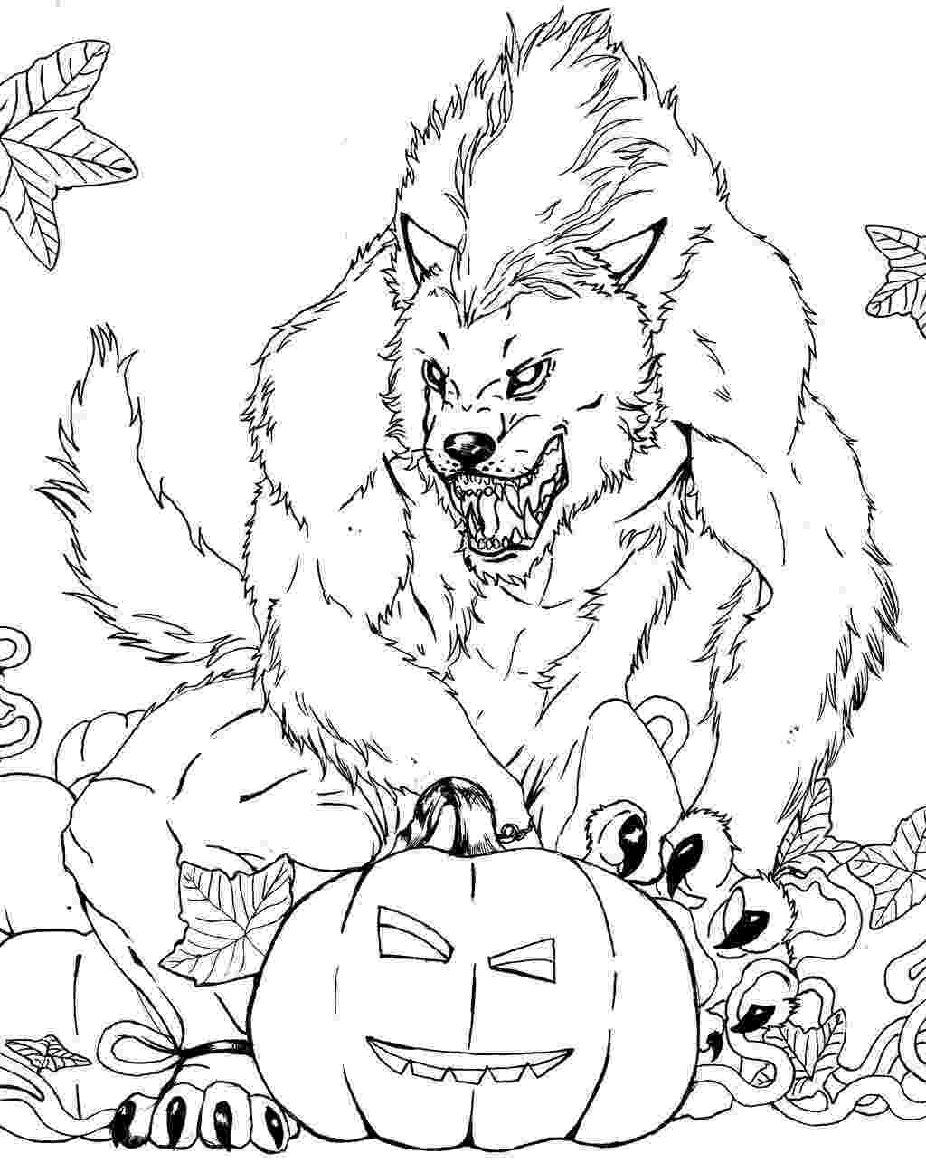 werewolf coloring pages scary wolf drawing at getdrawingscom free for personal werewolf pages coloring