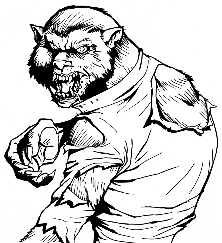 werewolf coloring pages werewolf color me now by b2thec on deviantart pages coloring werewolf