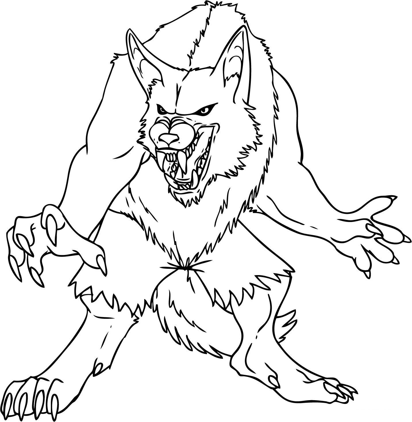 werewolf coloring pages werewolf coloring pages kids coloring pages free werewolf coloring pages