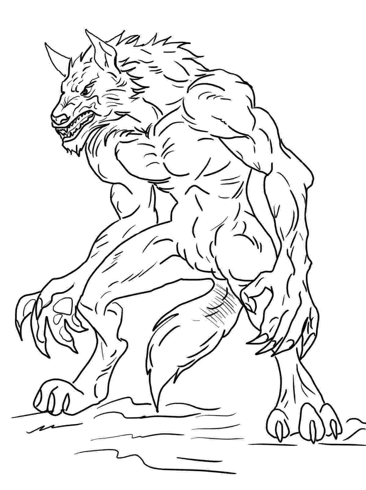 werewolf coloring pages werewolf coloring pictures coloring home pages werewolf coloring