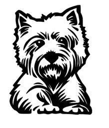 westie coloring pages art drawing painting on pinterest penny black digi westie coloring pages