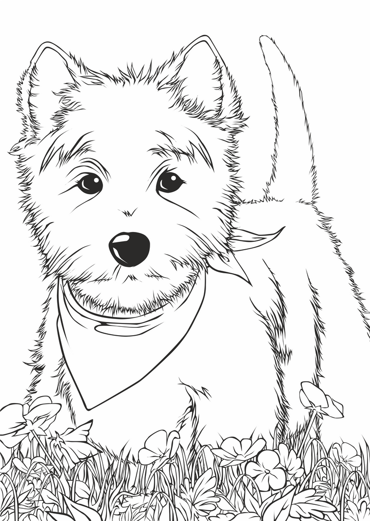 westie coloring pages west highland terrier coloring pages sketch coloring page pages westie coloring