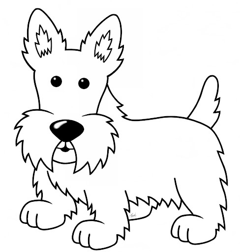 westie coloring pages west highland terrier drawing at getdrawings free download coloring westie pages