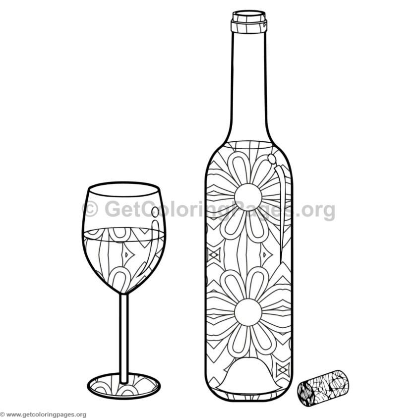 wine bottle coloring pages bottle of wine line art free clip art bottle pages coloring wine