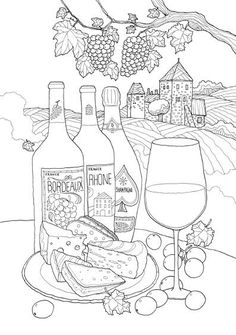 wine bottle coloring pages scroll saw patterns 4 instant download the shining coloring wine pages bottle