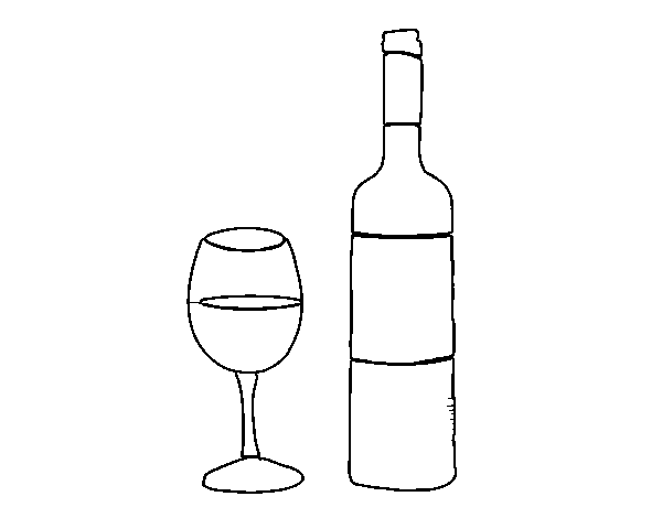 wine bottle coloring pages the best free wine drawing images download from 908 free coloring pages wine bottle