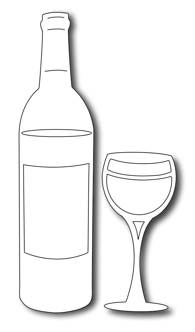 wine bottle coloring pages wine bottle line drawing at getdrawingscom free for coloring pages wine bottle