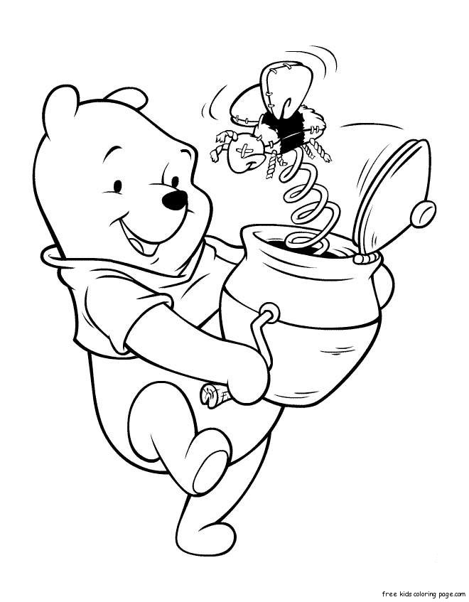 winnie the pooh coloring book download coloring pages for kids winnie the pooh with honeyfree download coloring book pooh the winnie