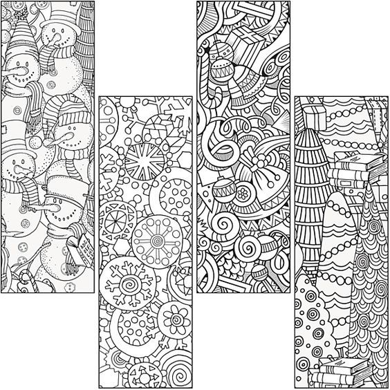 winter bookmarks coloring page free winter holiday bookmarks by ashleigh prather tpt bookmarks winter coloring page
