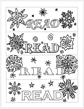 winter bookmarks coloring page give all ages time to chill out with a color craze winter bookmarks page coloring winter
