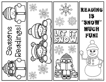 winter bookmarks coloring page winter bookmarks by atbot the book bug teachers pay teachers bookmarks winter page coloring