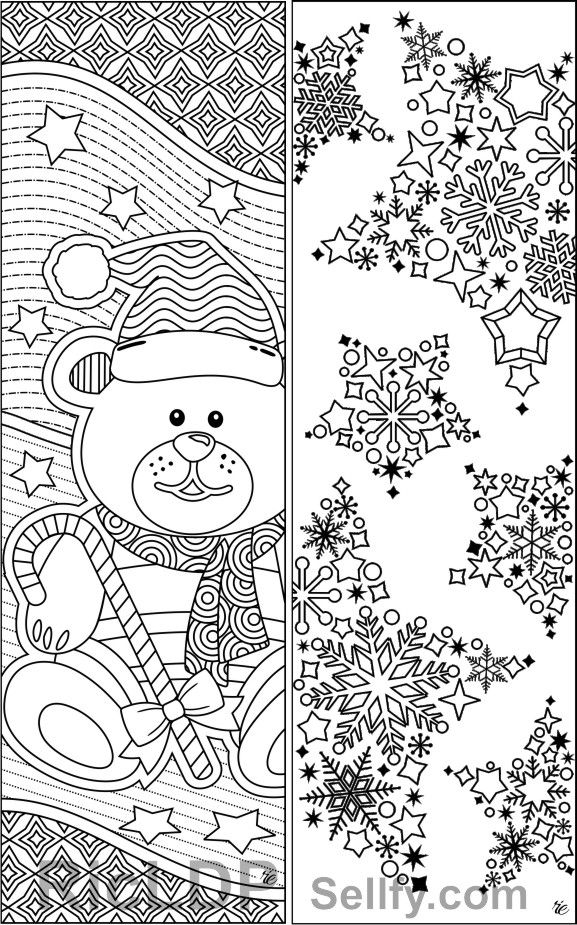 winter bookmarks coloring page winter bookmarks coloring page winter coloring page bookmarks