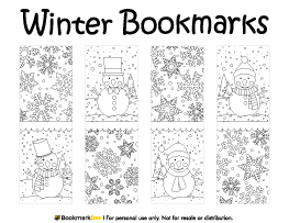 winter bookmarks coloring page winter bookmarks for coloring colorable teacher student bookmarks coloring page winter