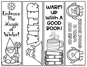 winter bookmarks coloring page winter printable bookmarks by edugator39s essentials tpt bookmarks coloring page winter