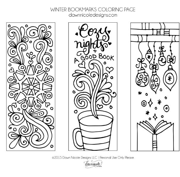 winter bookmarks coloring page winter printable bookmarks by edugator39s essentials tpt winter bookmarks coloring page