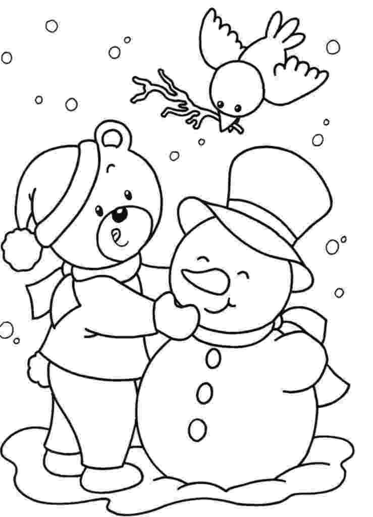 winter coloring pages coloring pages winter coloring pages and clip art free pages winter coloring
