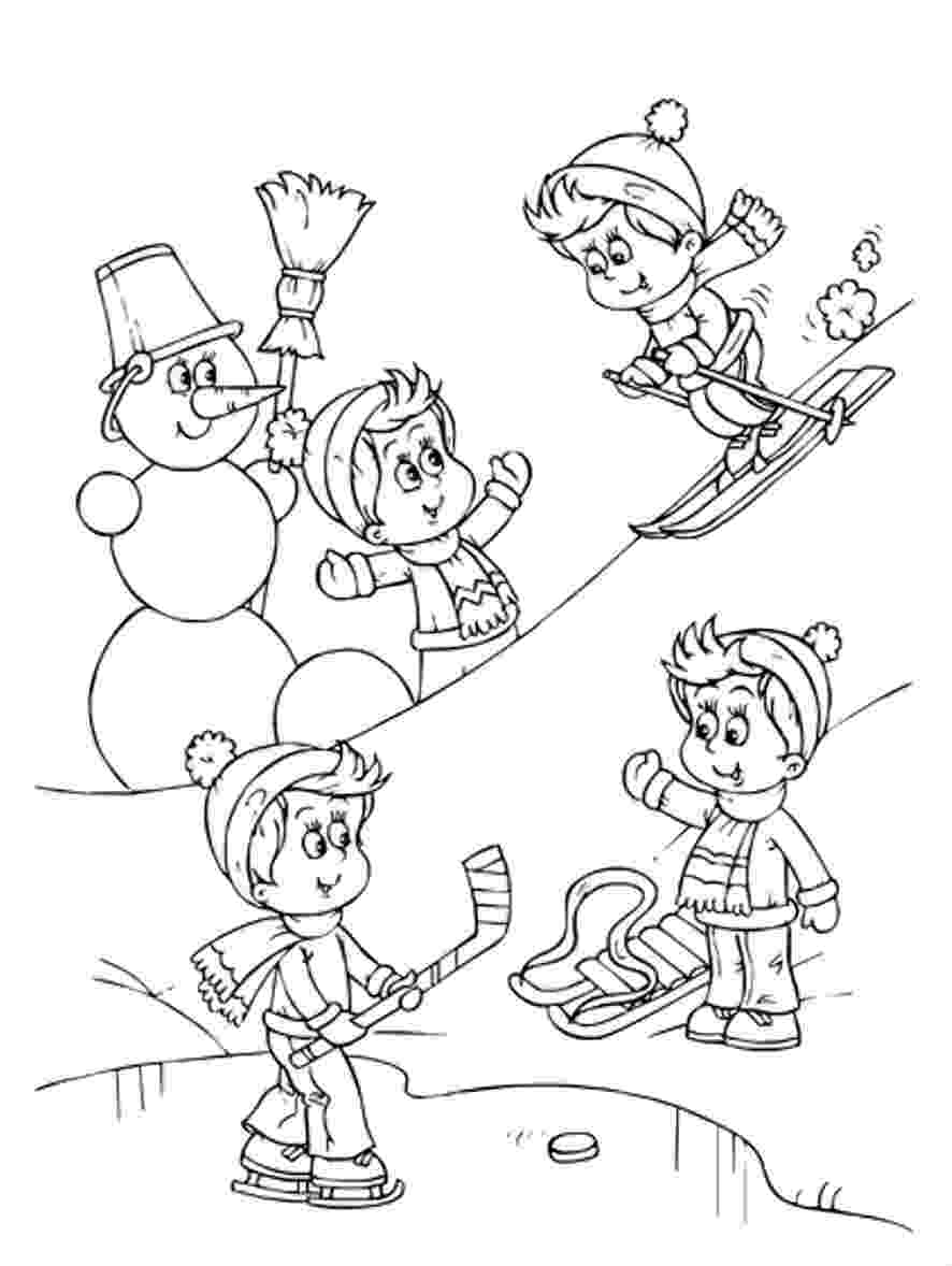 winter coloring pages sports photograph coloring pages kids winter sports coloring winter pages