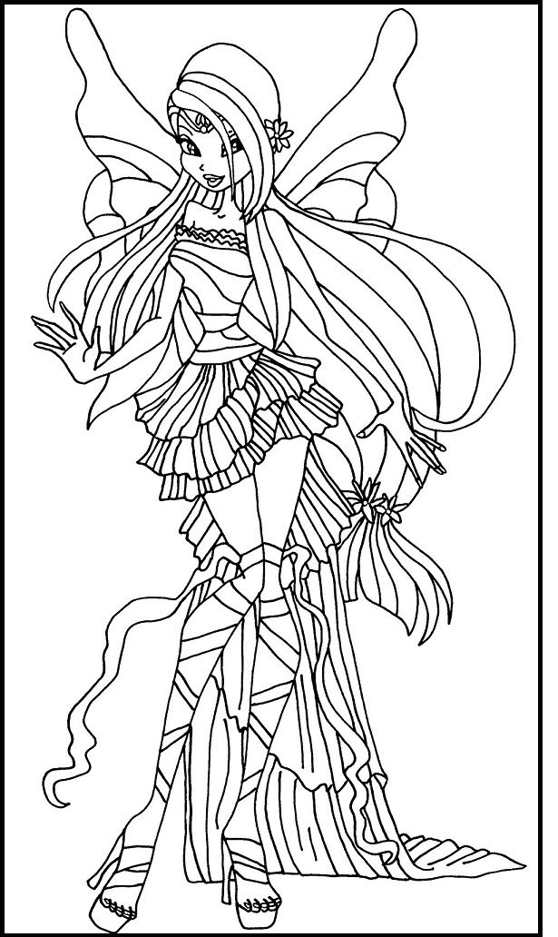 winx club musa winx club harmonix musa coloring picture for kids trang winx musa club