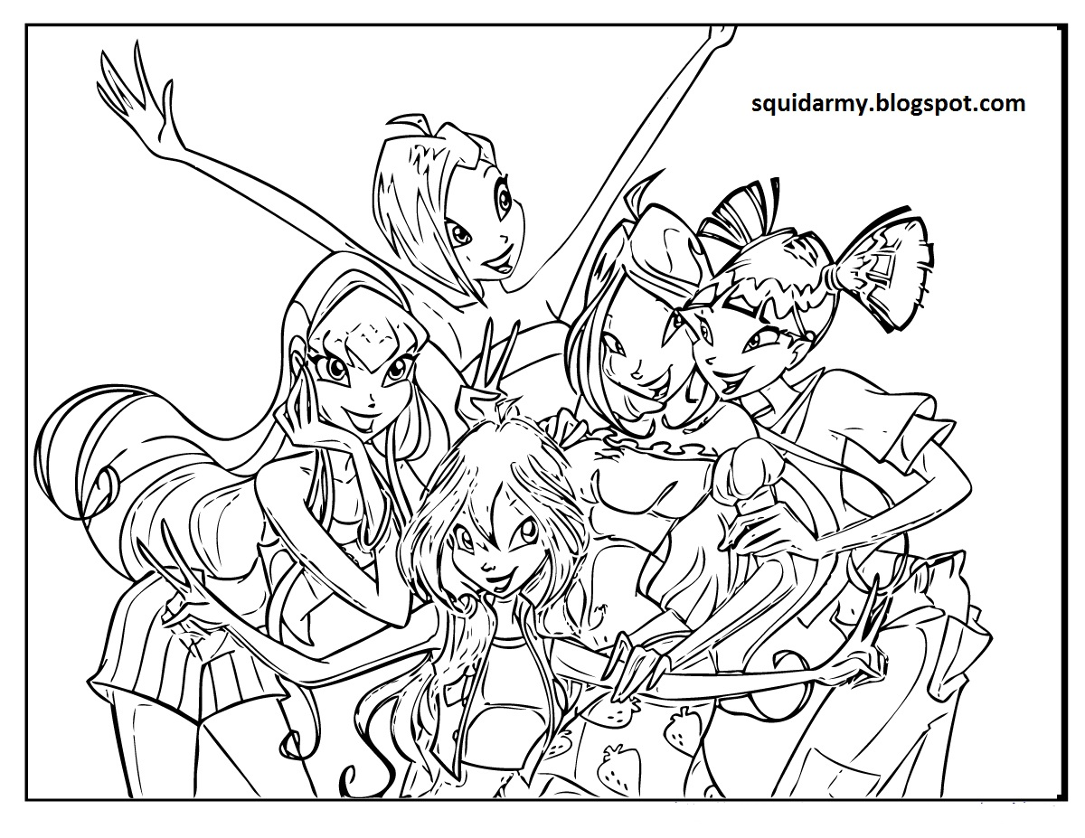 winx coloring page winx club coloring pages squid army page coloring winx