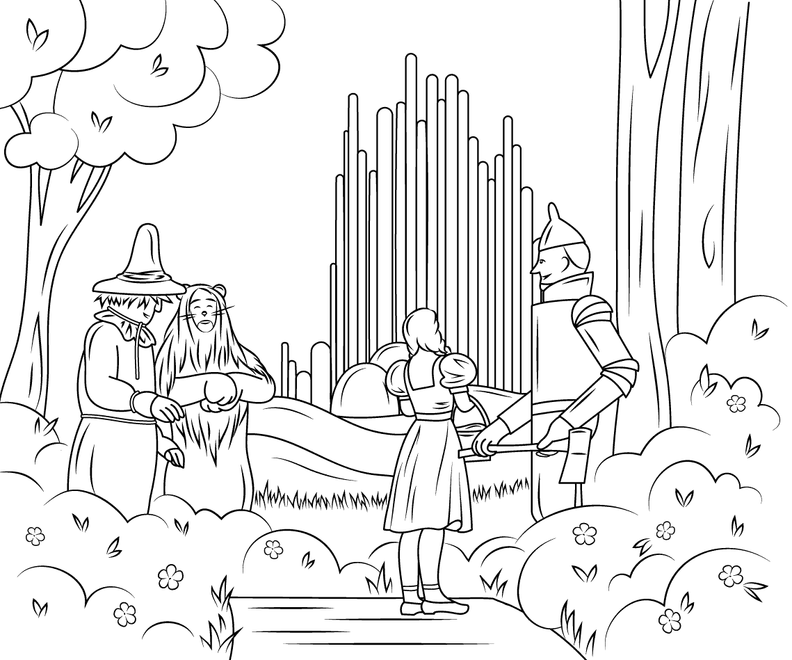 wizard of oz coloring pages free the wizard of oz coloring pages to download and print for free pages wizard free of coloring oz