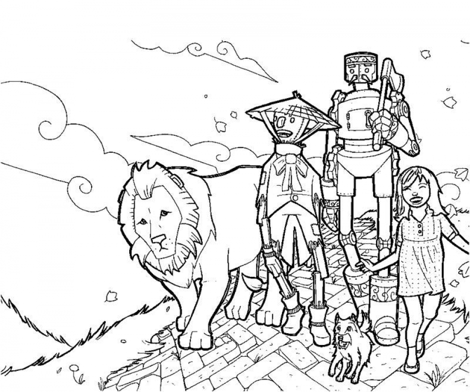 wizard of oz coloring pages free wizard of oz coloring pages printable sketch coloring page free pages coloring of wizard oz