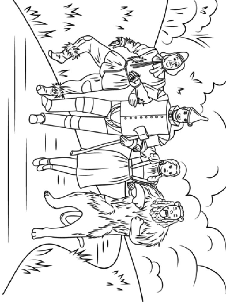 wizard of oz coloring pages free wizard of oz coloring pages printable sketch coloring page oz of coloring wizard pages free