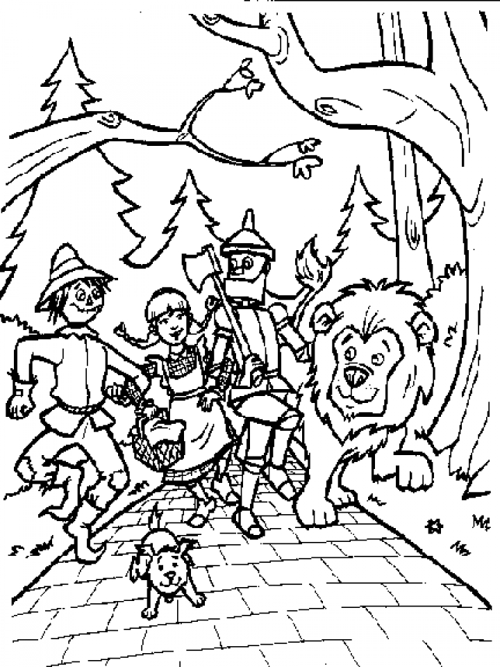wizard of oz coloring pages to print top 15 free printable the wizard of oz coloring pages coloring of wizard pages oz to print