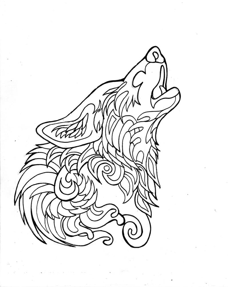 wolf coloring page 332 free howling wolf page by lucky978 on deviantart page wolf coloring