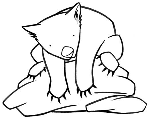 wombat colouring australian animal colouring pages colouring wombat 1 1
