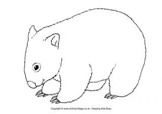 wombat colouring wombat coloring page free printable coloring pages colouring wombat