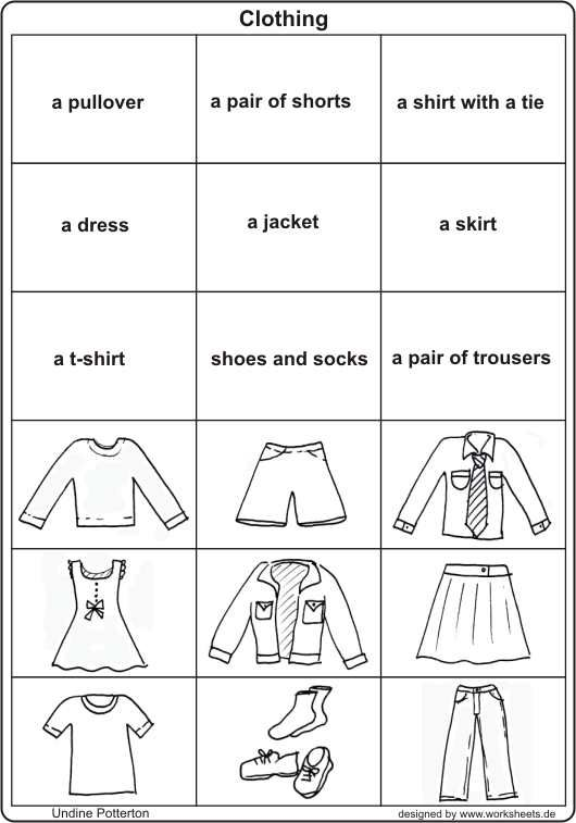 worksheet for kindergarten clothes bw vocabulary about clothes esl worksheet by elenarobles29 for worksheet kindergarten clothes