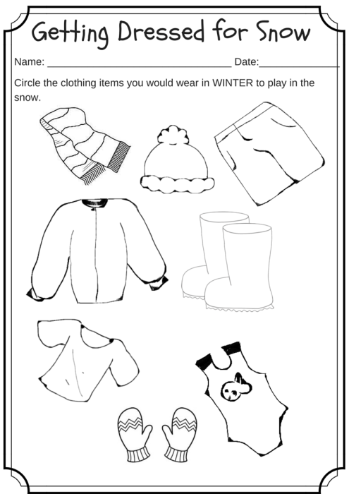 worksheet for kindergarten clothes worksheet winter clothing coloring preschoolprimary b clothes for worksheet kindergarten