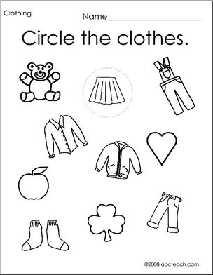 worksheet for kindergarten clothes worksheet winter clothing follow the pattern preschool kindergarten for clothes worksheet