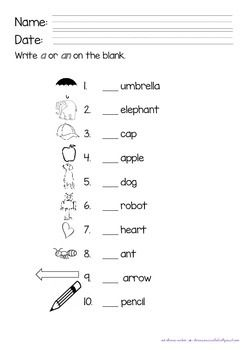worksheets for grade 1 articles articles a an the first grade by kim39s creations tpt for 1 articles grade worksheets