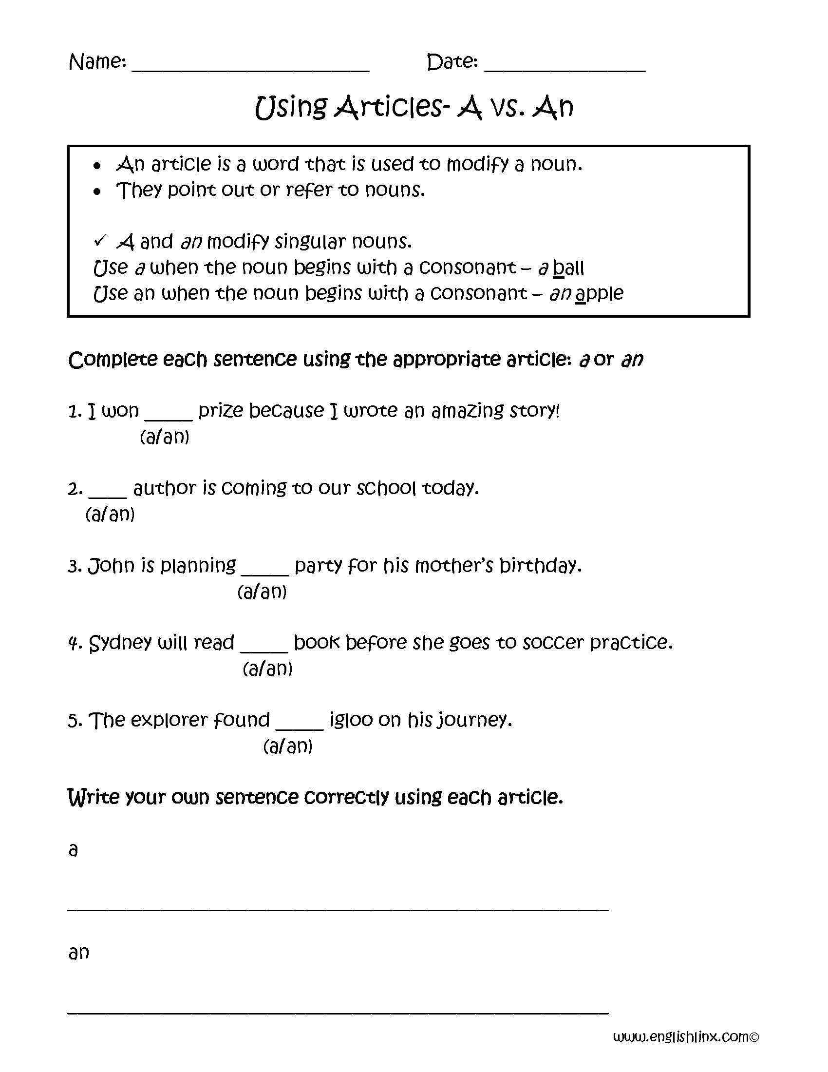 worksheets for grade 1 articles englishlinxcom articles worksheets grade worksheets 1 articles for