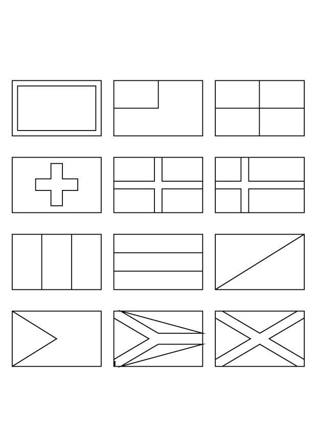 world flags to colour worksheets countries to flags colour world