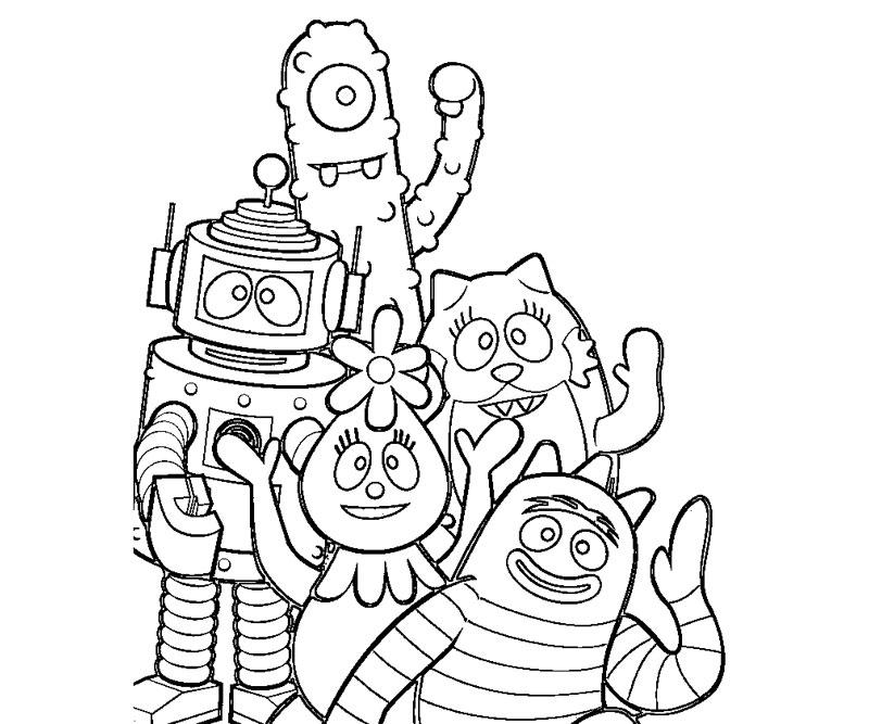 yo gabba gabba coloring pages free free yo gabba gabba coloring pages for kids coloringstar pages free gabba gabba coloring yo
