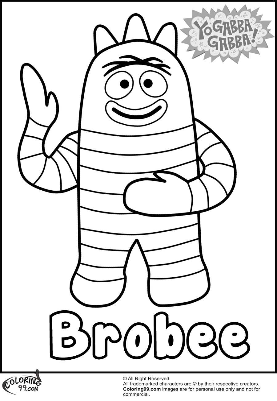 yo gabba gabba coloring pages free yo gabba gabba coloring pages gabba gabba yo pages coloring free