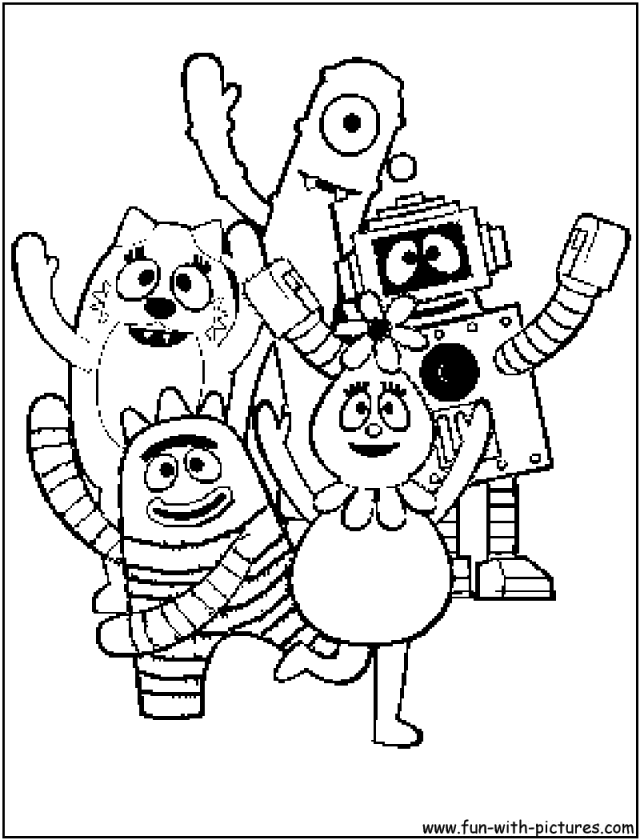 yo gabba gabba coloring pages free yo gabba gabba coloring pages printable coloring for gabba free coloring pages gabba yo